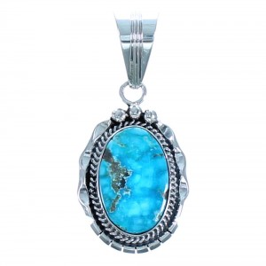 Turquoise Sterling Silver Navajo Pendant BX118468