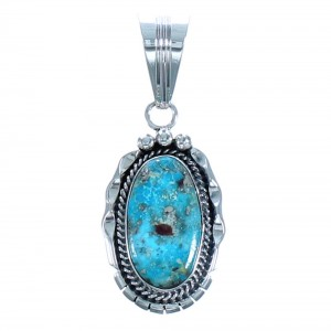 Turquoise Sterling Silver Native American Pendant BX118470
